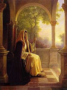 Jesus seated in temple